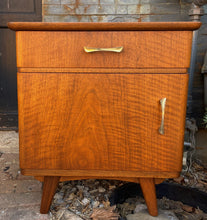 Load image into Gallery viewer, RESTORED Mid Century Modern Bedroom set: Bed, Wardrobe, 2 nightstands, Mint