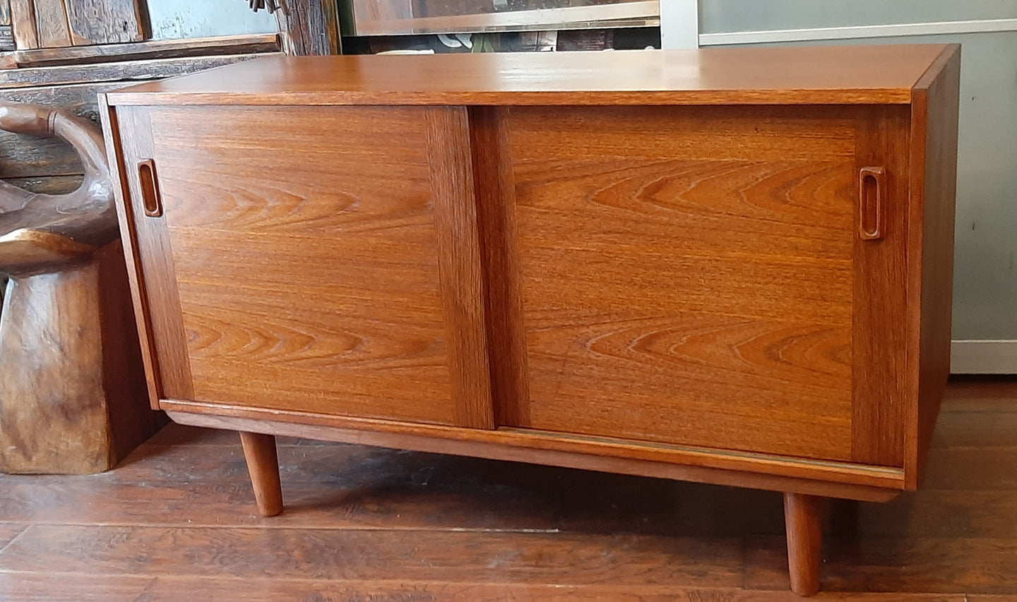 REFINISHED MCM Teak Sideboard Buffet 48.5