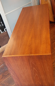 "REFINISHED MCM Teak Sideboard Buffet 48.5"", perfect"