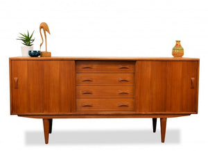 REFINISHED Danish MCM Teak Sideboard by IB Kofod-Larsen for Clausen and Son