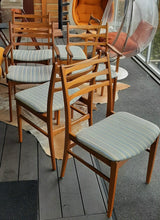 Load image into Gallery viewer, 6 Large MCM Solid Mahogany Chairs  RESTORED, 2 arm, 4 side, perfect, each $199 only - Mid Century Modern Toronto