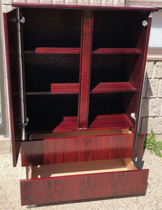 RESTORED MCM Rosewood Bedroom set: 2 dressers, platform bed Queen,  2 nightstands, Mint
