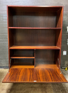 RESTORED Danish MCM Rosewood Cabinet with Bar, 34.5""