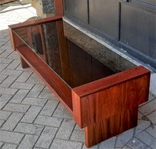 Load image into Gallery viewer, RESTORED MCM Rosewood Coffee Table with tinted glass top