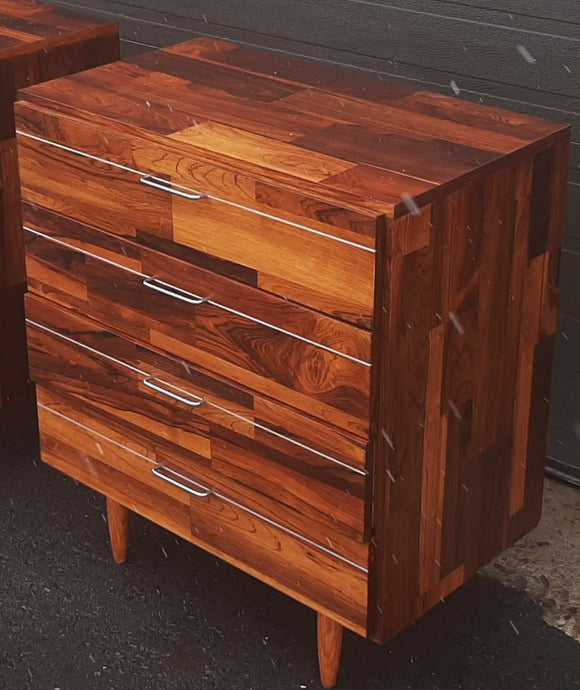 REFINISHED MCM Rosewood Patchwork Cabinet with 4 drawers 28