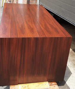 REFINISHED MCM Rosewood executive desk with finished back LARGE