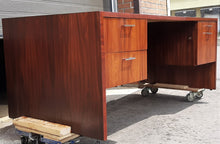 Load image into Gallery viewer, REFINISHED MCM Rosewood executive desk with finished back LARGE