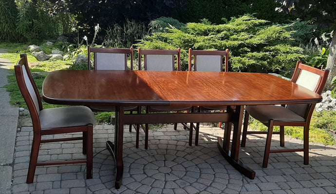 Large MCM Rosewood Dining Table Extendable 70