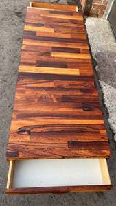 "REFINISHED MCM Rosewood Coffee Table 60"" low, PERFECT"