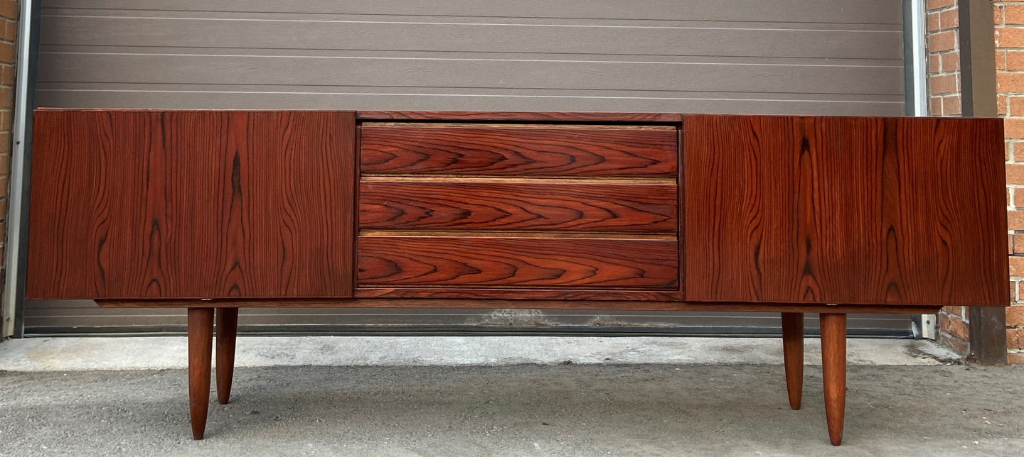 REFINISHED Danish MCM Rosewood Sideboard Credenza TV Media Console 86