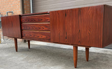 Load image into Gallery viewer, REFINISHED Danish MCM Rosewood Sideboard Credenza TV Media Console 86""