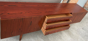 REFINISHED Danish MCM Rosewood Sideboard Credenza TV Media Console 86""