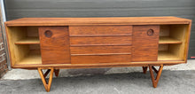 Load image into Gallery viewer, REFINISHED MCM Walnut Sideboard TV Media Console 70""