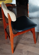 Load image into Gallery viewer, 4 RESTORED MCM Solid Teak Chairs, ready for new upholstery, each $199 only - Mid Century Modern Toronto