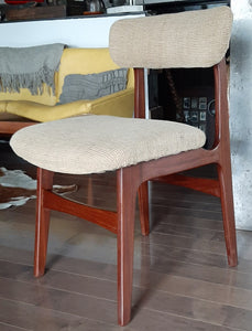 4 RESTORED MCM Solid Teak Chairs, ready for new upholstery, each $199 only - Mid Century Modern Toronto