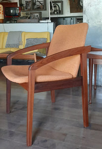 Set of 2 REFINISHED & Ready to be REUPHOLSTERED MCM Teak Armchairs