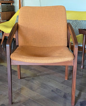 Load image into Gallery viewer, Set of 2 REFINISHED & Ready to be REUPHOLSTERED MCM Teak Armchairs