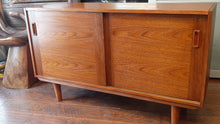 "Load image into Gallery viewer, REFINISHED MCM Teak Sideboard Buffet 48.5"", perfect"