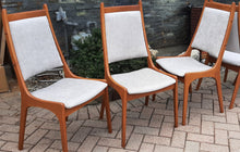 Load image into Gallery viewer, Set of 6 MCM Teak Chairs, RESTORED REUPHOLSTERED in KNOLL stain resistant fabric