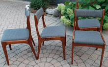 Load image into Gallery viewer, 4 MCM Teak Chairs REFINISHED REUPHOLSTERED
