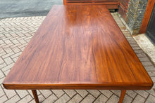 Load image into Gallery viewer, On Hold***REFINISHED Danish MCM Teak Draw Leaf Table by Ib Kofod-Larsen for Faarup, 6 ft- 98""
