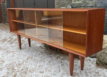 "Load image into Gallery viewer, REFINISHED Danish MCM Teak Display Bookcase 71"" PERFECT"