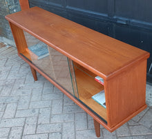 Load image into Gallery viewer, REFINISHED MCM Teak Bookcase Display Media Console 5 ft, Perfect