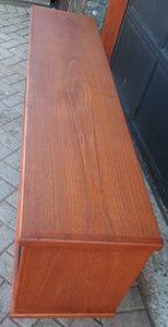 REFINISHED MCM Teak Bookcase Display Media Console 5 ft, Perfect