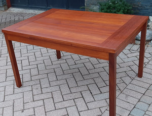 "REFINISHED Compact MCM Teak Draw Leaf Table 51""-83"" by RS Associates, Perfect"