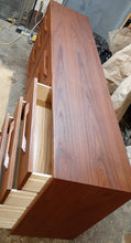 "Load image into Gallery viewer, REFINISHED MCM Teak Dresser 12 Drawers, 75"", narrow, PERFECT - Mid Century Modern Toronto"
