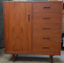 Load image into Gallery viewer, REFINISHED MCM Teak Dresser, Wardrobe, Queen Bed w floating nightstands PERFECT - Mid Century Modern Toronto