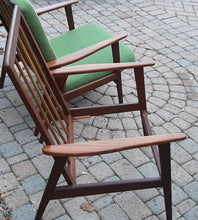 Load image into Gallery viewer, On Hold***A pair of Danish MCM Solid Teak Lounge Chairs Highback REFINISHED, perfect