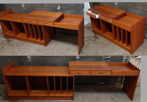 "REFINISHED  MCM Teak Entertainment or Media Unit, 48""-95"" almost perfect - Mid Century Modern Toronto"