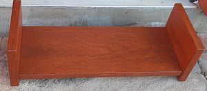 REFINISHED MCM Teak Floating Shelf & Mirror, PERFECT - Mid Century Modern Toronto