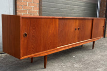 Load image into Gallery viewer, REFINISHED Danish MCM Teak Sideboard Credenza Narrow 96""