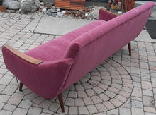Load image into Gallery viewer, REFINISHED REUPHOLSTERED Danish MCM Sofa in Wool Mohair - PERFECT