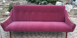REFINISHED REUPHOLSTERED Danish MCM Sofa in Wool Mohair - PERFECT