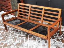 Load image into Gallery viewer, On Hold for M.***REFINISHED REUPHOLSTERED Danish MCM Solid Teak Sofa, Perfect