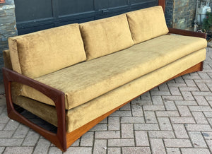 REFINISHED REUPHOLSTERED MCM Teak 4-Seater Sofa & Armchair in Wool Mohair - PERFECT