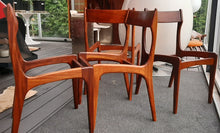 Load image into Gallery viewer, 6 MCM Teak Chairs REFINISHED, ready for new upholstery, each $295