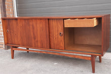 "Load image into Gallery viewer, REFINISHED MCM Teak Sideboard Credenza 70"", Perfect"