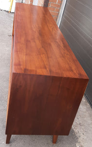 "REFINISHED MCM Teak Sideboard Credenza 70"", Perfect"