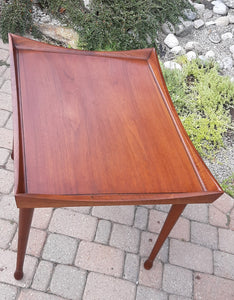 Set of 2 REFINISHED MCM Walnut Accent Tables by Deilcraft