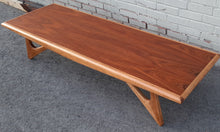 Load image into Gallery viewer, Sculptural MCM Walnut & Ash Coffee table REFINISHED, in style of A.Pearsall, Perfect