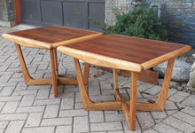 Load image into Gallery viewer, Sculptural MCM Walnut & Ash side tables REFINISHED, in style of A.Pearsall, Perfect