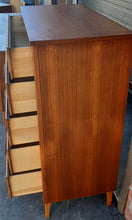 Load image into Gallery viewer, ON HOLD***REFINISHED MCM  walnut dresser 9 drawers, tallboy, 2 nigh stands, headboard for queen bed & frame - PERFECT - Mid Century Modern Toronto