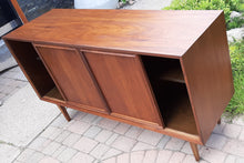 "Load image into Gallery viewer, REFINISHED  MCM Walnut Sideboard by Honderich, 56.5"", PERFECT"