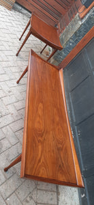REFINISHED MCM Walnut Coffee Table by Deilcraft 5ft, PERFECT