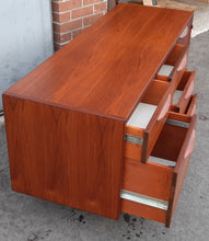 Load image into Gallery viewer, Coming soon***REFINISHED  MCM Walnut Credenza with Finished Back, wide and low