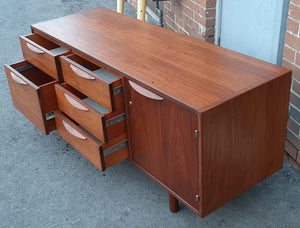 Coming soon***REFINISHED  MCM Walnut Credenza with Finished Back, wide and low